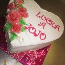 Srdce svadobná torta